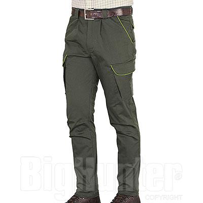 Pantaloni Kalibro Classic Cotton Stretch Profiles Migra Green