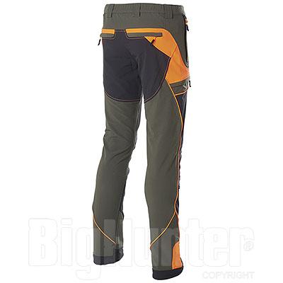 Pantaloni uomo Hiker Light Elasticizzati Green-Black-Orange Fluo