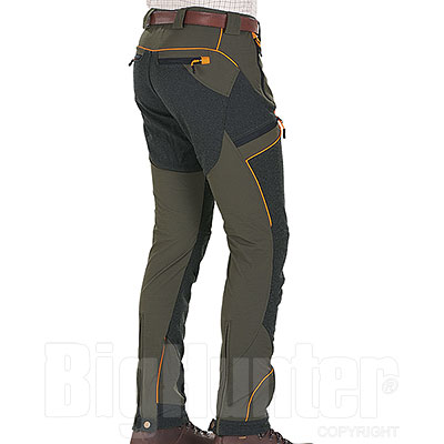 Pantaloni Stretch Hunter Boar Green Protection Black HV Orange