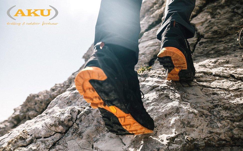 Scarpe AKU Rock DFS Mid GTX Black/Orange