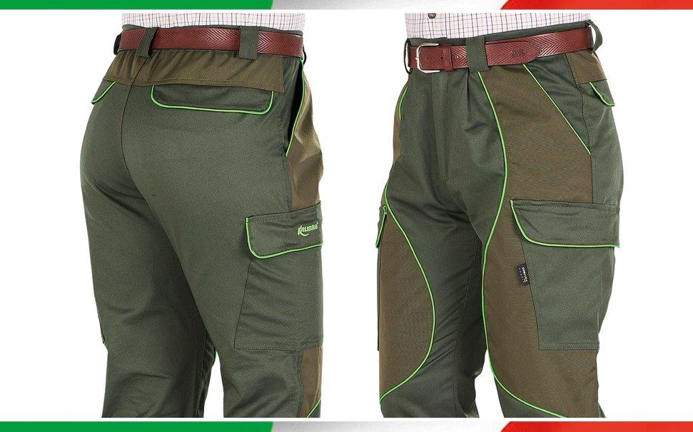 Pantaloni Kalibro Cargo Cotton Stretch Green Cordura Green